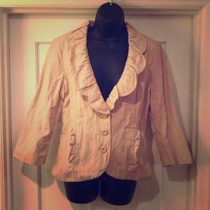 CAbi Spring Blazer Shabby-chic Great for layering.
